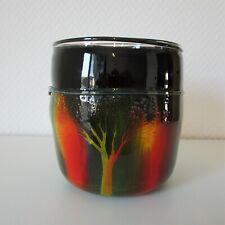 EISCH - attrakitve schwere Vase, ansprechendem Dekor, handsigniert: Eisch 92.