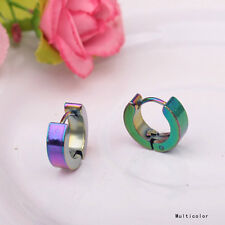 Chic Punk Mens Women Stainless Steel Hoop Huggies Ear Stud Earrings Gothic Best