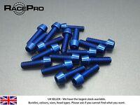 RacePro - 6x Titanium Tapered Bolt GR5 - M6 x 30mm x 1mm - Allen Head - Blue