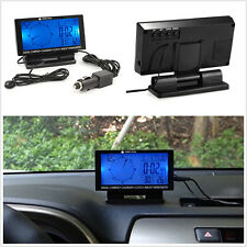 """In-Car Digital Compass 4.6"""" LCD Display Blue LED with Clock Thermometer Calendar"""
