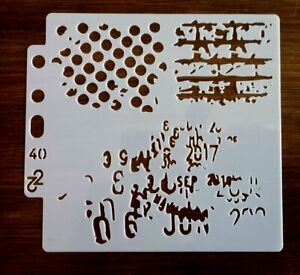 ABSTRACT STENCIL 130mm x 130mm