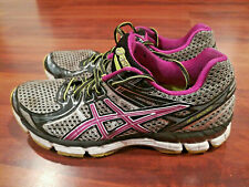 Asics GT 2000 Women's Running Sneakers Shoes Silver Black Purple Size 8.5