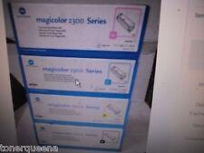 4 X Genuine NEW KONICA MINOLTA QMS MAGICOLOR 2300 2300W 2350EN TONER Cartridge