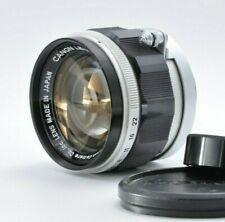 Near Mint Canon 50mm f/1.4 Leica L39 mount MF prime standard lens Caps JAPAN DHL