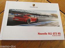 Brochure  PORSCHE 911 GT3 RS 03/2015  : catalogue cartonné 92 p. FR