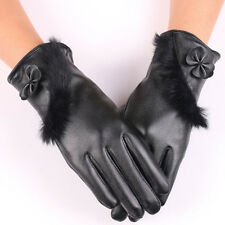 Women's Gloves Useful 2019genuine Fur Womens Gloves Winter Gloves Female Real Leather Gloves Thickened Mittens Ski Waterproof Gloves With Bowknot