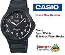 CASIO WATCH SPORTS WATER RESISTANT MW-240-1BVD 12 MONTH WARRANTY
