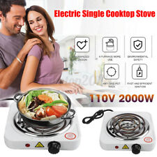 Portable 1000W Single Electric Burner Hot Plate 110V Portable Stove Stainless US