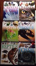 New listing Lot 6 Dk Eyewitness Books Homeschool Crystal & Gem Dinosaur Reptile Bird Fossil