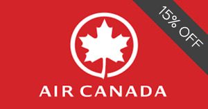 🍁🍁🍁 AIR CANADA 15% OFF COUPON PROMO DISCOUNT CODE - up to 4 passengers 🍁🍁🍁