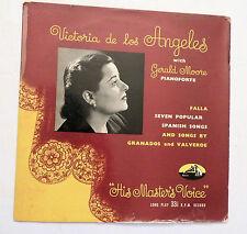 """10"""" 33 RPM, Victoria de Los Angeles, with Gerald Moore, His Masters', UK, VG++"""
