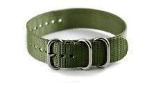 NAGATAC Military Nylon Watch Strap Band 3 Ring Stainless Matt Buckle 20/22 OD