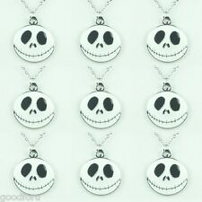 9pcs White Jack Skellington Nightmare before Christmas Charm Necklaces Halloween