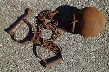 Alcatraz Prison Cast Iron Ball & Chains Leg Irons Cuffs