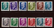 60 T2 ALLEMAGNE DDR serie 12 timbres obliteres: president W. ULBRICHT