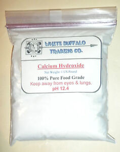 1 US LB Calcium Hydroxide Ca(OH)2; Edible/ Hydrated/ Pickling/ Slaked Lime pound