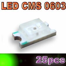 123/25# LED CMS 0603 vert -400mcd -SMD green - 25pcs