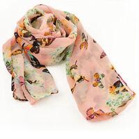 chiffon Women butterfly style Scarf Neck Shawl Scarf Scarves Wrap Stole Warm