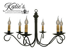Adams Wrought Iron Chandelier by Katie's - Primitive Colonial Country - NEW!