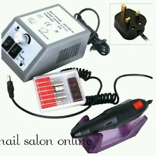 Electric nail drill file efile 30000 rpm 6 drill bits inc for acrylic gel nails