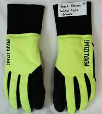 Pearl iZumi Neon Yellow Winter Cycling Gloves Size Small Genuine Leather Palms
