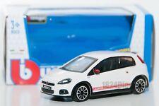 Fiat Abarth Grande Punto white, Bburago 18-30198, scale 1:43, toy car model