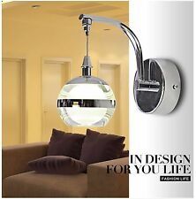 LED Modern Home Style Round Crystal Ball Luxury Wall Light Fixture Lamp Yellow