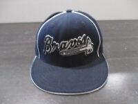 Atlanta Braves Hat Cap Blue Silver Fitted 7 1/4 MLB Baseball American Needle Men