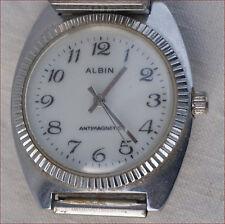 Vintage Men Albin Mechanical Antimagnetic Wristwatch Stainless Steel