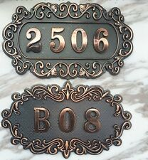Custom Door Number 3 or 4 digits  High-quality retro Brass Numbers