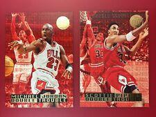 🔥🏀1995-96 Fleer Ultra #3 Double Trouble Gold Medallion Michael Jordan + BONUS!