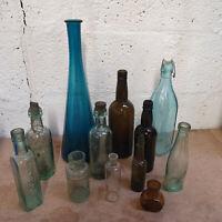 Vintage Glass Bottle Garton's HP Sauce Retro Tops Stopper Coloured Apothocery