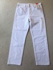"Uniqlo ladies white jeans, size 12 (waist 28""). RRP: £34.90. NWT"