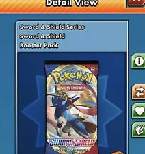 50x Sword & Shield Boosters for Pokemon TCG Online Sent 15 Minutes FAST In-Game