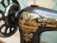 More details for antique victorian c1895-96 singer treadle sewing machine head sphinx decals a/f