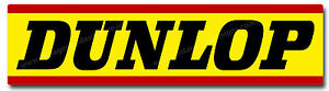 "DUNLOP TYRES DIGITALLY CUT OUT VINYL STICKER. 6"" X 1.5"" OVERALL SIZE."