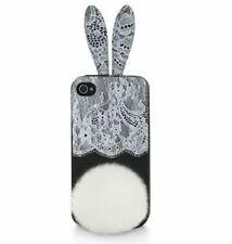 BCBGMAXAZRIA SILICONE BUNNY CASE EARS LACE IPHONE 4 4S SMARTPHONE COVER RABBIT