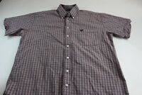 Cinch Plaid Cowboy Pocket Button Up Shirt Large L