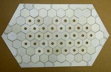 Settlers of Catan Board Game Frame with 65 Hexagons 35 w/holes