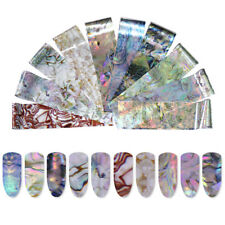 Nail Art Foils Decals Sticker Seashell Pearl Holographic Starry Sky Manicure
