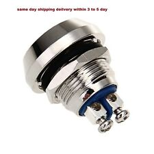 Momentary Metal Push Button Switch 12 mm 2pcs