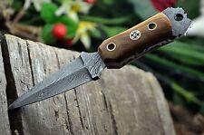 BDS CUTLERY CUSTOM MADE DAMASCUS STEEL FULL TANG MINI DAGGER NECK KNIFE | UK-322