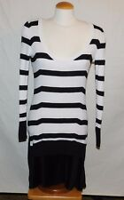 Victoria's Secret kiss of Cashmere Striped scoop neck pleated sweater dress Sz M