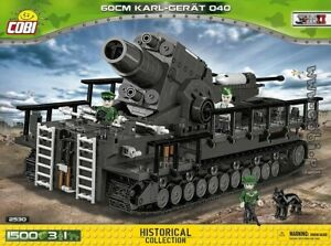 COBI 60 cm Karl-Gerät 040 Thor ( 2530  )  1500 blocks  WWII  WoT  German  mortar