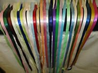 "Single Face Satin Ribbon 100% Polyester, 1/4"" 3/8"" 5/8"" 7/8""; 100 Yards/ Roll"