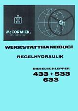 Werkstatthandbuch Hydraulik IHC 433 533 633 WHB Hyd Regelhydraulik SO