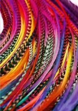 hair feathers 10 long  tyedye rainbow  feather hair extensions 5-11""
