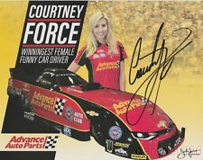2017 Courtney Force signed Advance Auto Parts 1st issued Camaro FC NHRA postcard