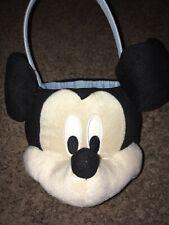 Walt Disney World Mickey Mouse Plush Handle Basket Halloween Trick Treat Easter