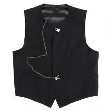 Jean-Paul GAULTIER HOMME Lock button Wool Vest Size 48(K-48386)